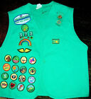 Junior Girl Scout Vest With Pins Badges  Patches