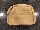 Diamondback Tactical LARGE MOLLE Zipper Pouch (Coyote Brown)