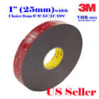 3M 1 x 6 9 15 21 VHB Double Sided Foam Adhesive Tape 5952 Automotive Mounting