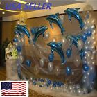 6 pcs Big Size Dolphin Foil Helium Balloon For Birthday Party Wedding Decoration