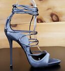 So Me Mista Satin Strappy Lace Up High Stiletto Heel Shoe 65 11 Gray