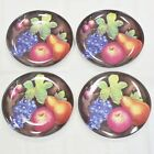 4 Sue Zipkin Sakura Stoneware Fruit Dinner Plate Delicious Pattern Pears
