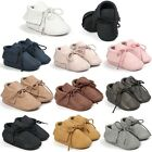 Newborn Infant PU Moccasin Fashion Tassel Shoes Boy Girl Baby Soft Sole Leather