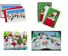 HUGE HALLMARK PEANUTS SNOOPY + NATIVITY CHRISTMAS CARD LOT OF 72 3 BOXES + DVD
