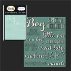 LITTLE ONE BOY folder Carta Bella embossing folders CBRBB64031 wordsphrases