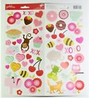 Pebbles be mine Accent Stickers 54pc Love Valentine Heart American Crafts