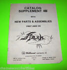 FLASH By WILLIAMS 1979 ORIGINAL PINBALL MACHINE PARTS CATALOG SUPPLEMENT ONLY
