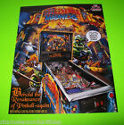 Planetary Pinball MEDIEVAL MADNESS Remake Of Williams Pin Game Promo Sales Flyer