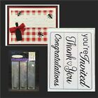 Darice embossing folders Sentiments 1219 304 Yourre invitedThank youCongrats