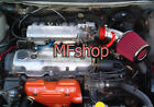 RED For 1990 1993 Geo Storm Isuzu Impulse 16L 18L L4 Air Intake + Filter