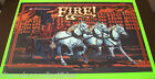Williams FIRE 1987 Original NOS Pinball Machine Translite Backglass Art Sheet