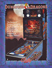 Bally DUNGEONS & DRAGONS 1987 Original NOS Flipper Game Pinball Machine Flyer
