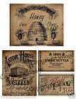 Primitive Kitchen Pantry Labels  - Reproduction        #507