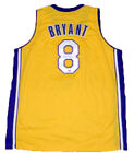 LOS ANGELES LAKERS KOBE BRYANT AUTOGRAPHED SIGNED #8 GOLD JERSEY PSA DNA