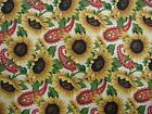 3 YARDS CONCORD SUNFLOWER PAISLEY FABRIC QUILTING CRAFTS SEWING