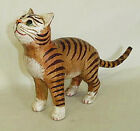 CATS CURIOUS CAT WOODEN CAT SCULPTURE CAT FIGURINE