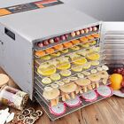 10 Tray Food Dehydrator Stainless Steel Fruit Jerky Dryer Commercial 1000W US
