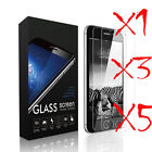 5Pcs Real Screen Protector Premium Tempered Glass Protective Film For iPhone