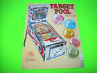 Gottlieb TARGET POOL Original 1969 Flipper Game Pinball Machine Promo Sale Flyer