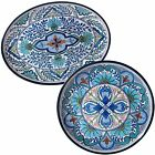Certified International Nancy Green 'Talavera' Floral White, Blue, and Green Mel