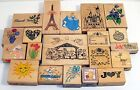 Lot of 20 Rubber Stamps for Scrap booking Crafts and more Effiel Tower Castle
