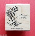 STAMPIN UP April Sweet Pea WM Rubber Stamp Flower Month