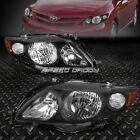 BLACK HOUSING CLEAR HEADLIGHT+AMBER CORNER LIGHT FOR 09 10 TOYOTA COROLLA E140