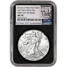 2017 W American Silver Eagle NGC MS70 First Day of Issue 225th Ann Black