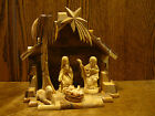 OLIVE WOOD NATIVITY SET Made in the Holy Land Creche 75 x 8 x 5