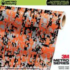 Digital Orange Tiger Camouflage Vinyl Car Wrap Camo Film Sheet Roll Adhesive