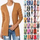 TheMogan Womens Classic Button V Neck Long Sleeve Knit Sweater Cardigan S 3XL