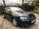 LARGER PHOTOS: 2003 SUBARU LEGACY BLUE ESTATE 1 PREV OWNER, SPARES OR REPAIR, DRIVES VERY WELL