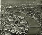 LONDON. River front & south bank area. Air Thames- side Central 1943 old print