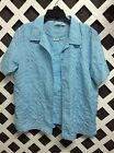 Adrian Delafield Womens L  XL  Eyelet 2 Piece Layer Button Blouse Top Shirt