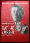 1966 Original Movie Poster The War Is Over Alain Resnais France Montand French