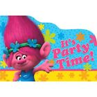 TROLLS INVITATIONS 8 Birthday Party Supplies Stationery Cards Notes Poppy