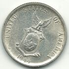 VINTAGE HIGH GRADE BU 1944 S US PHILIPPINES SILVER 50 CENTAVOS COIN MAR626
