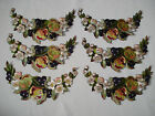 antique french handmade silk embroidery appliques  / inserts - unused