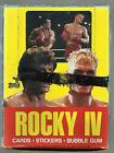 1985 TOPPS ROCKY 4 BOX OF TRADING CARDS 21 UNOPENED PACKS INCLUDED