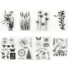New Lots Transparent Silicone Clear Rubber Stamp Sheet Cling Scrapbooking DIY