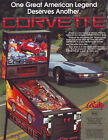 Bally CORVETTE 1992 NOS Original Flipper Game PINBALL MACHINE Promo Sales Flyer
