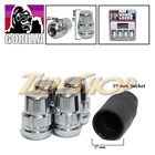 4 LOCK GORILLA XL ACURA HONDA BALL RADIUS STOCK OEM WHEEL LUG NUT 12X1.5 CHROME
