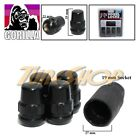 4 LOCK GORILLA XL HONDA ACURA BALL RADIUS STOCK OEM WHEEL LUG NUT 12X1.5 BLACK