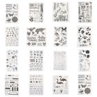 Alphabet Transparent Silicone Clear Rubber Stamp Cling Diary Scrapbooking Crafts