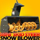 Mini Skid Steer Mount Attachment 48 Snow Thrower BlowerOnly Fits ASV RC30 PT30