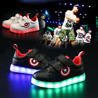 Boys Kids Luminous Led Light up Shoes Sportswear Casual Sneakers Rechargeable