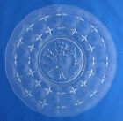 Indiana Glass clear glass Constellation Grape leaf design dinner plate 11