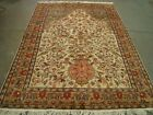 RARE TREE OF LIFE BIRDS FLORAL HAND KNOTTED RUG CARPET SILK WOOL 8.6x5.10