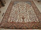 WOW TREE OF LIFE PEACE BIRDS HAND KNOTTED RUG CARPET SILK WOOL 10.4 x7.2 FB-9945