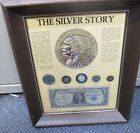 THE SILVER STORY COIN  PAPER SET IN FRAME
